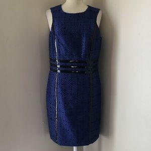 Michael Kors Sheath Blue/Black Dress